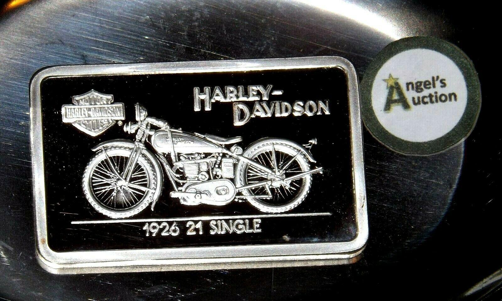 1926 21 Single Harley Davidson 1.38 oz .999 Silver Bar AA19-CND6028
