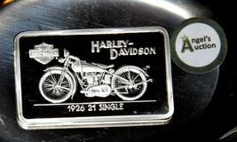 1926 21 Single Harley Davidson 1.38 oz .999 Silver Bar AA19-CND6028 - $108.85