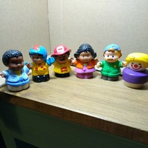 Lot Of 6 Fisher-Price Little People.  Various Years, Used. - $7.92