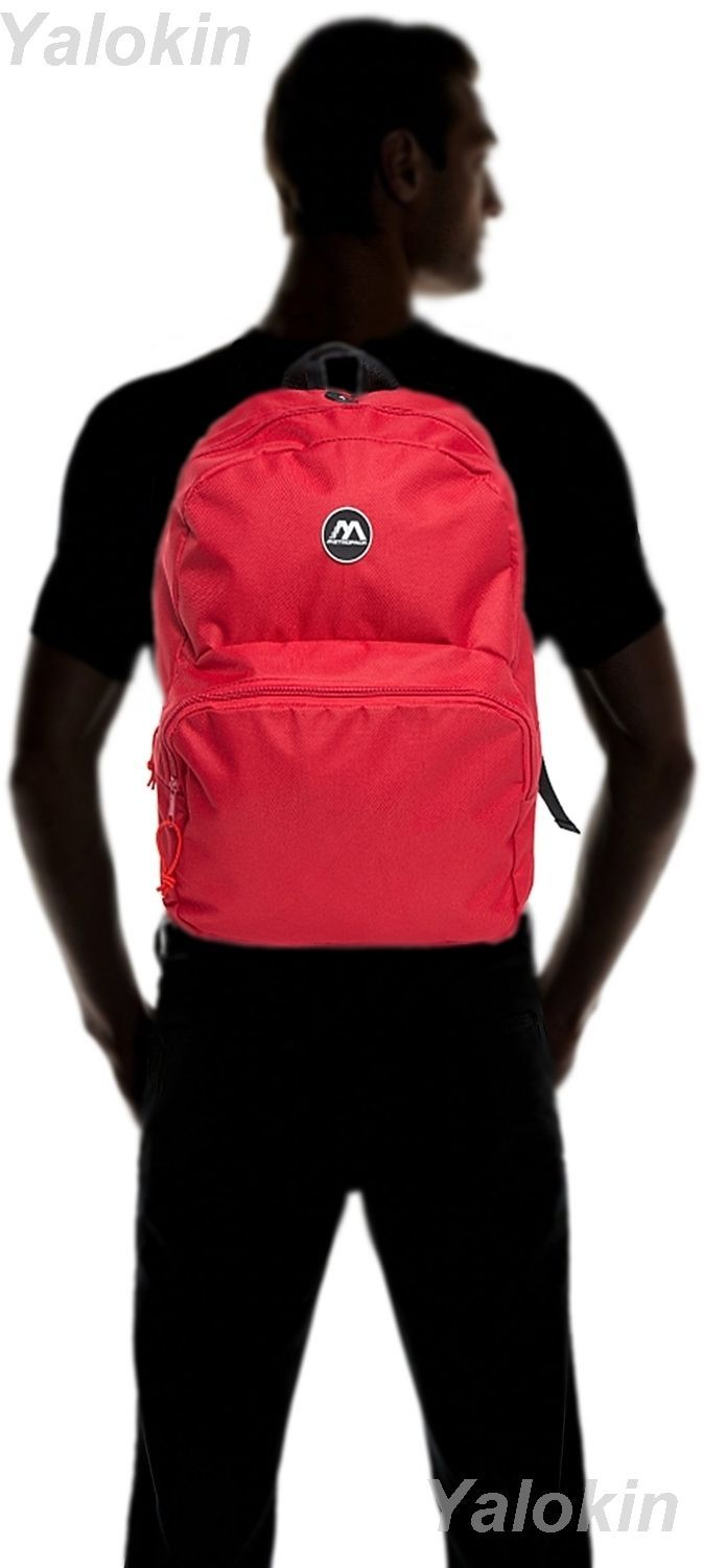NEW Red Lightweight Unisex Compact Size Fashion Backpack Shoulder Book Bag