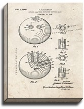 Bowling Ball Patent Print Old Look on Canvas - $39.95+