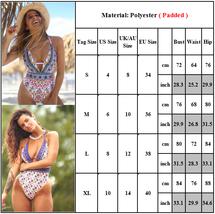 Women Floral Backless Monokini Beachwear Padded Swimsuit Summer One Piece Bikini image 3