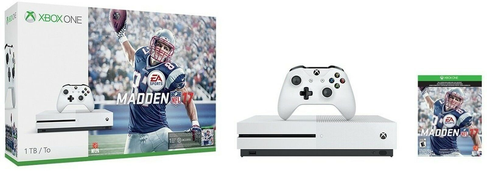 Xbox One S 1TB Console  Madden NFL 17 NEW!