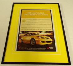 2003 Mitsubishi Lancer Ralliart 11x14 Framed ORIGINAL Vintage Advertisement - $32.36