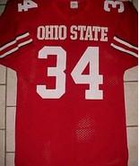 Ohio State Buckeyes #34 NCAA Big Ten Sports Belle Red White Jersey M - $49.49