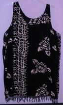 BEACHWEAR COVER UP TASSEL by BEACHWEAR ~ X L ~ BLACK & WHITE ~ MADE I N ... - $5.99
