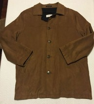 Men's Calvin Klein Quilted Spring Jacket - 4 Button Size 40 Large WOOL Lining!! - $45.22