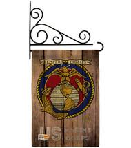 US Marine Corps Burlap - Impressions Decorative Metal Fansy Wall Bracket... - $36.97