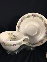 10pc Pfaltzgraff Jamberry 4 tea cup 6 saucers USA  - $24.26