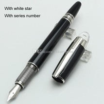 Luxury Germany Brand Pen mb-sw Black Resin Fountain Pen School Office St... - $26.99