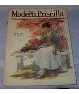 Modern Priscilla Needlework Fashion Housekeeping Magazine Sept 1917 - $20.00