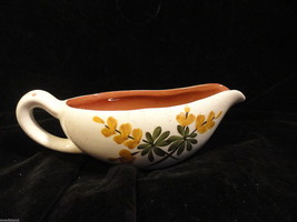 Vintage Stangl Pottery Golden Blossoms Gravy Boat AS IS 3 chips - $6.49