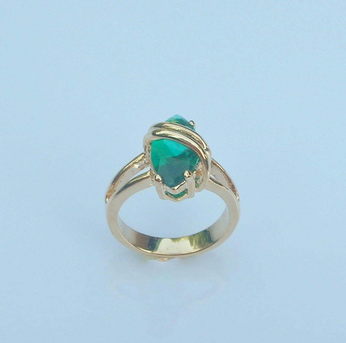 Ring Tropical Teal Ladies Size 6