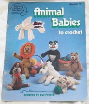 American School of Needlework Animal Babies to Crochet - $6.50