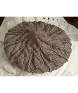 Original designed and hand knitted dark taupe G... - $20.00
