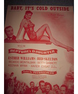Vintage Sheet Music Baby Its Cold Outside from Movie Neptune's Daughter ... - $7.99