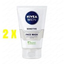 2 X Nivea Cl EAN Sing Gel For Men With Sensitive Skin 100 Ml - $27.09