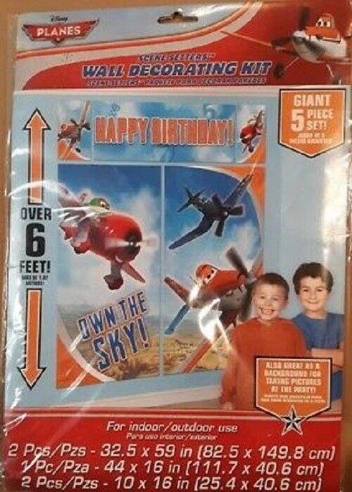 Dusty & Friends Disney Planes ~ Birthday Party Scene Setters Wall Decorating Kit