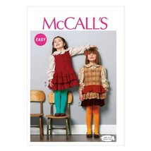 McCall Pattern Company M6783 Children's/Girls' Tops and Jumpers Sewing Template, - $15.68