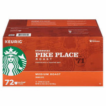 NEW Starbucks Coffee Pike Place Medium Roast K Cups Pods 72 Count Keurig