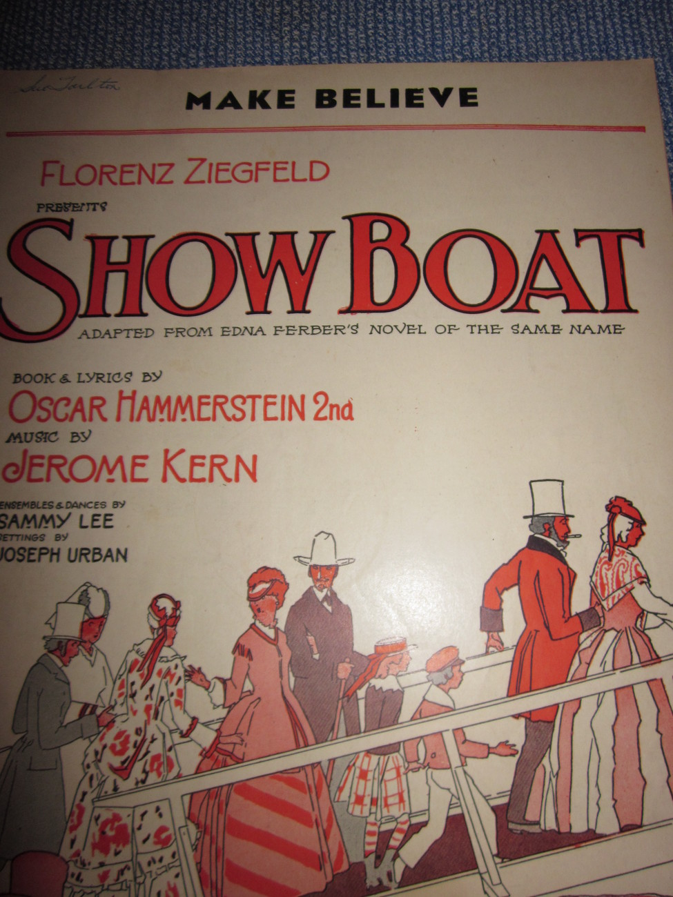 Vintage Sheet Music Make Believe from Movie Show Boat 1927