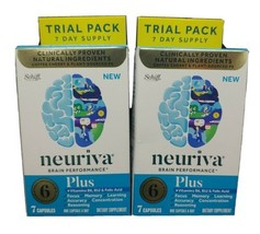 Lot Of 2 Neuriva Brain Performance Plus 7 Capsules Exp 12/2020 - $13.85