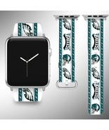 Philadelphia Eagles Apple Watch Band 38 40 42 44 mm Fabric Leather Strap 2 - $29.97