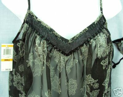 New sz small MORGAN TAYLOR sheer Baby Doll Nightgown G-String Thong S SM