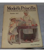 Modern Priscilla Needlwork Fashion Housekeeping Magazine Oct 1917 - $25.00
