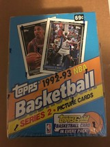 1992-93 Topps Series 2 Sealed Basketball Box 36 Packs Factory Sealed Topps Gold - $24.99