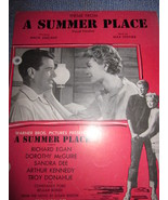 Vintage Sheet Music Theme from Summer Place 1960 - $7.99