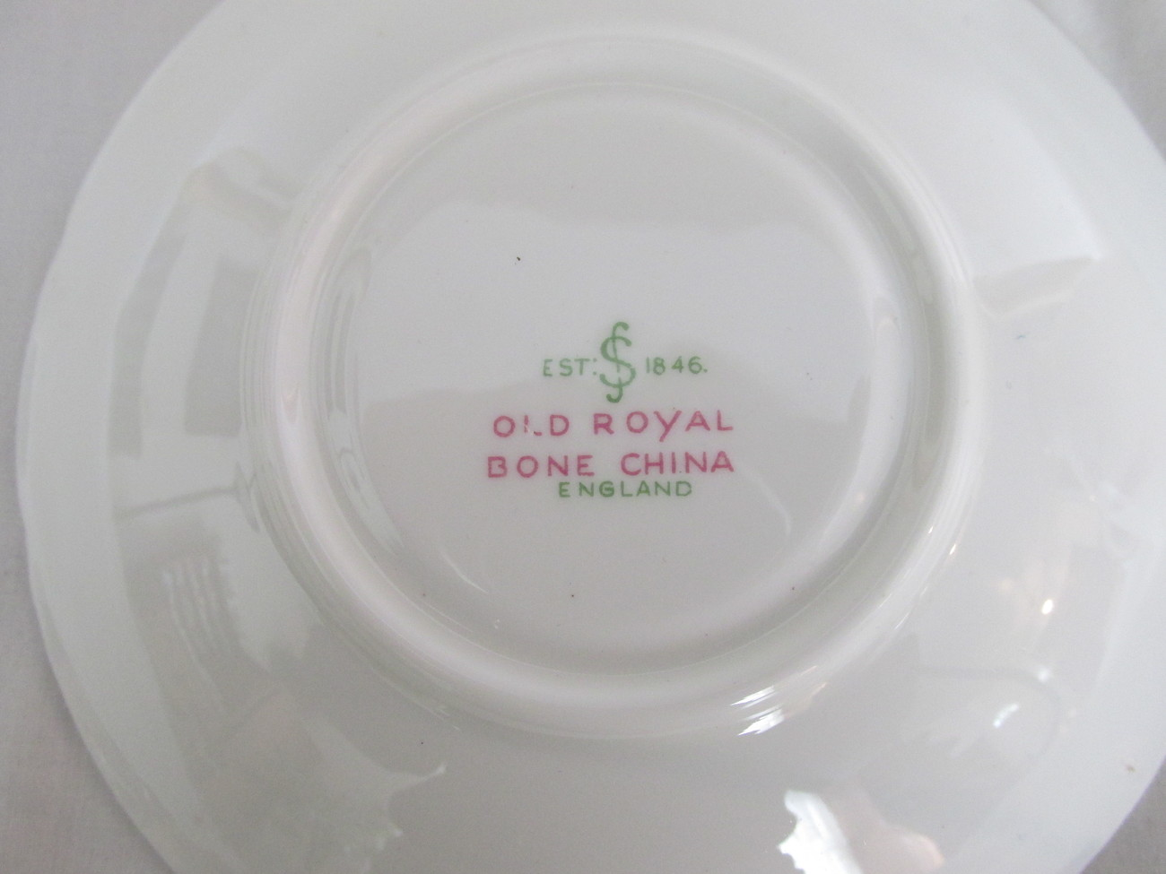 Vintage Old Royal English Bone China Cup & Saucer, 1940s - 1960s
