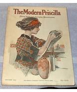 Modern Priscilla Needlwork Fashion Housekeeping Magazine Jan 1913 - $25.00