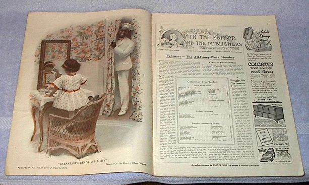 Modern Priscilla Needlwork Fashion Housekeeping Magazine Jan 1913