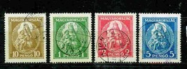 HUNGARY 1932 # 462-65 USED  MADONNA  RELIGION 11258-1 - $14.85