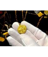 COLOMBIA 1646 2 ESCUDOS JEWELRY PENDANT NECKLACE PIRATE GOLD COINS TREASURE - $4,450.00