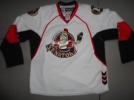 Reebok CCM Binghamton Senators SEWN AHL White Hockey Jersey Youth  L/ XL  - €43,32 EUR