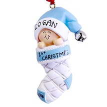 Personalize Baby's Boy 1st Christmas Ornament 2019 - $31.50