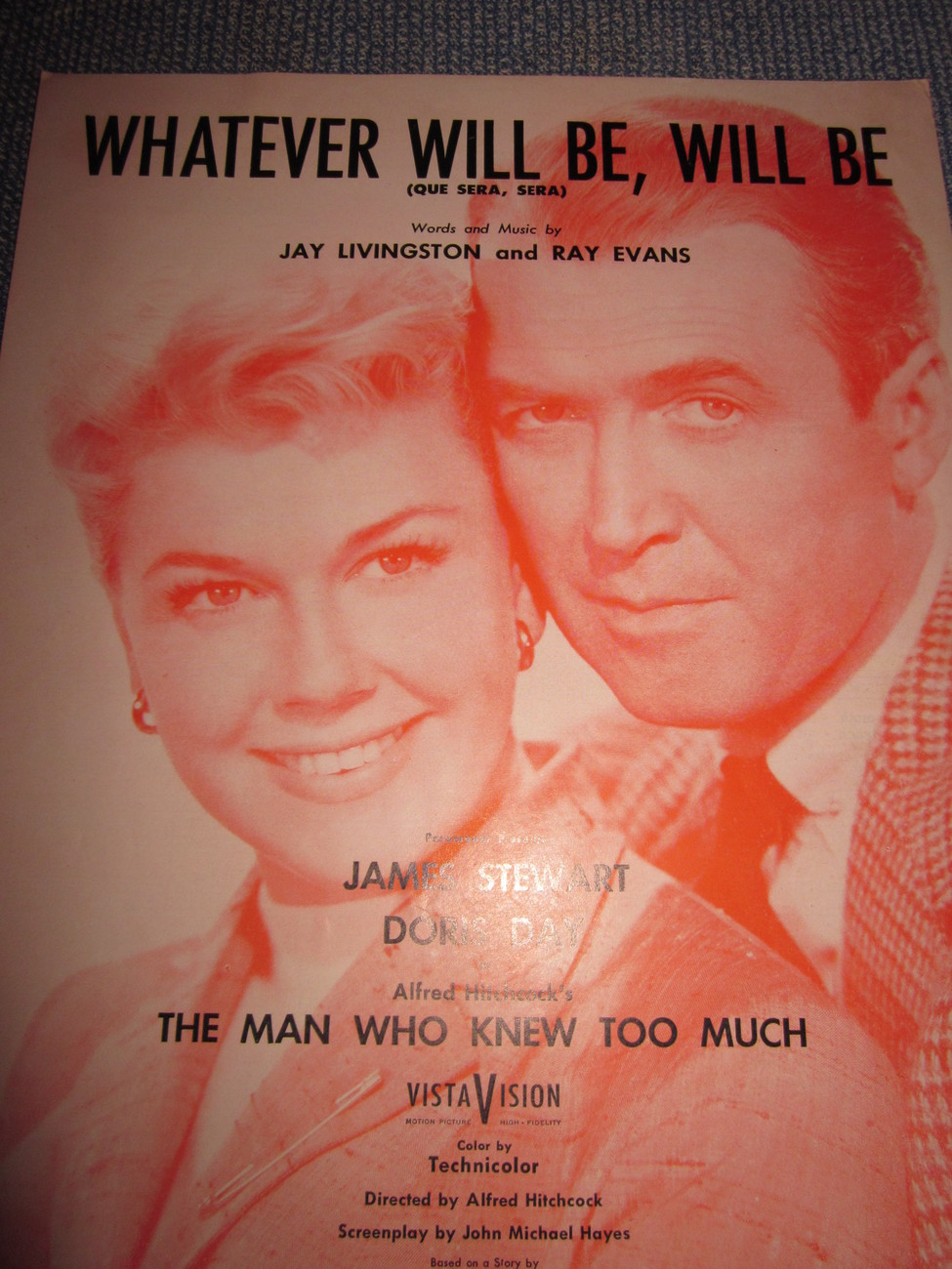 Vintage Sheet Music Whatever Will Be Will Be  1955
