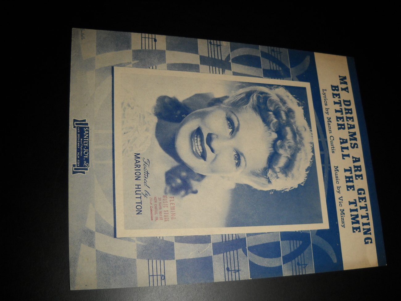 Sheet music my dream are getting better all the time marion hutton 1944 santly joy 01