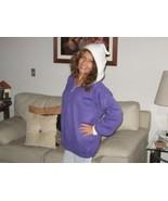 Women`s Purple hooded Cardigan, made of Alpaca wool - $118.00