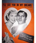 Vintage Sheet Music I'll See You In My Dreams with Doris Day & Danny Tho... - $7.99