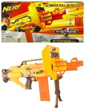 Nerf N Strike Stampede Ecs Fully Automatic Gun W 3
