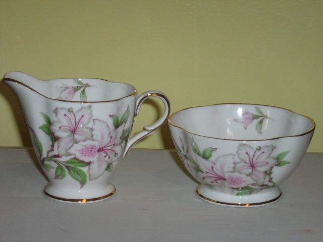 Vintage Windsor English Bone China Sugar Bowl & Creamer, 1950s - 1960s