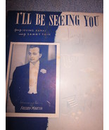 Vintage Sheet Music I'll Be Seeing You  as done by  Freddy Martin 1938  - $7.99