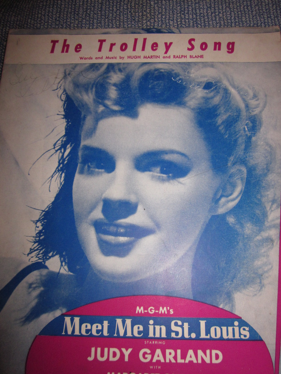 Vintage Sheet Music The Trolley Song - Judy Garland 1944