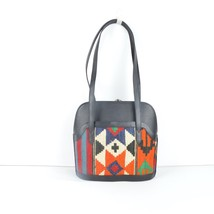 kilim black Leather bags,Shoulder kilim bags,Leather and Kilim bags,vint... - $199.00
