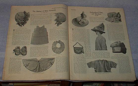 Modern Priscilla Needlwork Fashion Housekeeping Magazine May 1912