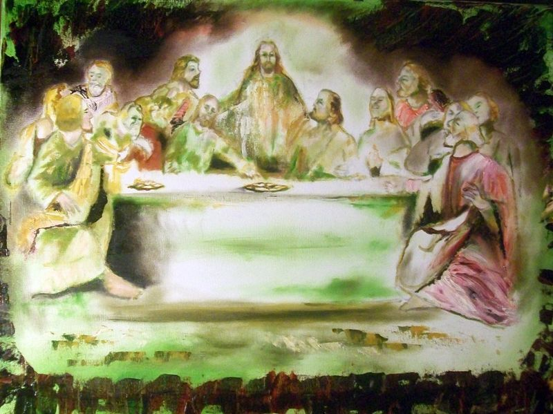"Primary image for Original 8x10 Religious Canvas Wall Art ""The Last Supper"""