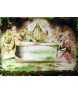 "Original 8x10 Religious Canvas Wall Art ""The Last Supper"" - $19.00"